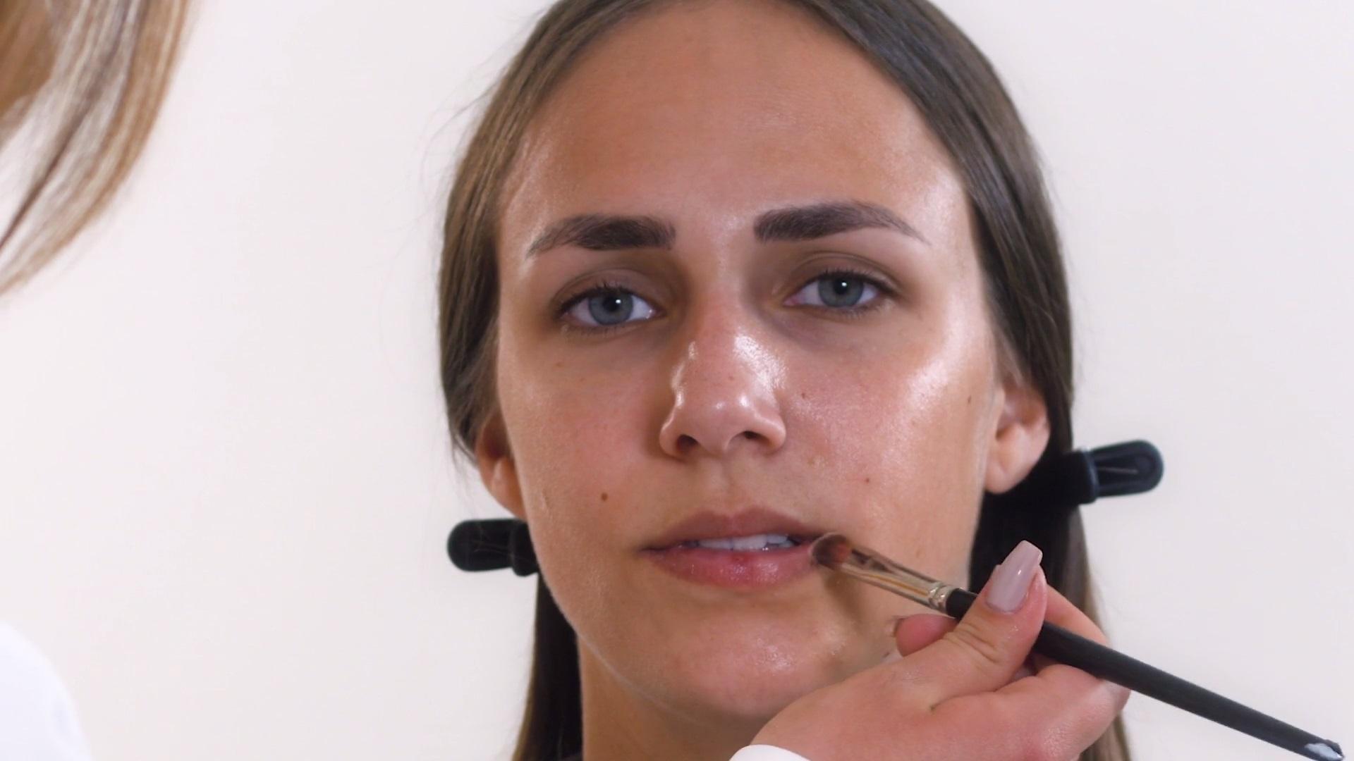 Lippen und Gesichtspflege Tages Make-Up